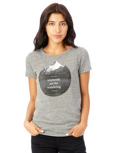 Ideal Graphic T-Shirt - Weekends Are For Wandering #WearAlternative