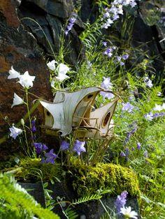 Greenspirit Arts: Bellflower faerie house