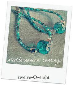 twelveOeight: DIY Mediterranean Earrings