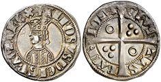 NumisBids: Aureo & Calicó S.L. Auction 337, Lot 260 : Alfons II (1285-1291). Barcelona. Croat. (Cru.V.S. 331) (Badia 23,... Antiquities, Silver Coins, Cool Artwork, Barcelona, Auction, Personalized Items, Tattoos, Tatuajes, Coins