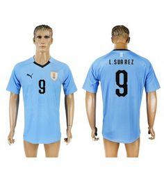 Uruguay Luis Suarez 9 Hemmatröja Män VM 2018 Kortärmad Neymar, Messi, Fc Barcelona, 21st, Polo Shirt, Polo Ralph Lauren, Sports, Mens Tops, Fashion