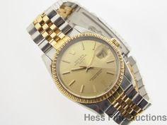15053 18k Gold SS Rolex Quickset Date Mens Two Tone Watch