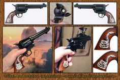 CLINT EASTWOOD movie prop Western Cowboy -Short Colt Gun Replica- From The Tribal And Western Impressions- Spaghetti Western Collection- Review off of: http://www.indianvillagemall.com/spaghettiwestern.html