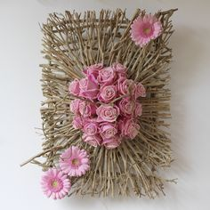 Discover thousands of images about Wall Hanging Twig Crafts, Flower Crafts, Diy And Crafts, Deco Floral, Arte Floral, Floral Design, Felt Flowers, Paper Flowers, 3d Canvas Art