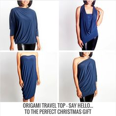 Diane Kroe Origami Top. #Travel #fashion #carryononly #packinglist #convertibledress