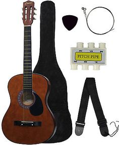 New COFFEE Beginners Acoustic Guitar With Guitar Case, Strap, Tuner and Pick - http://www.guitarstore.wupples.com/new-coffee-beginners-acoustic-guitar-with-guitar-case-strap-tuner-and-pick/