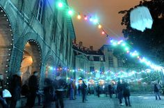 Fête des Lumières (Lyon, France - several days, around 8 Dec.) France's 3. city glows with sound-and-light shows. #christmas #travel