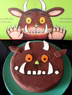 Gruffalo Cake - Food and Drink - - - gruffalo party - . - Gruffalo Cake – Food and Drink – – – gruffalo party – - Gruffalo Party, The Gruffalo, 2 Birthday Cake, Boy Birthday, 2nd Birthday Parties, Minion Cupcakes, Cupcake Cakes, Party Cups, Cake Party