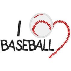 I Love Baseball Applique - 3 Sizes! | Baseball | Machine Embroidery Designs | SWAKembroidery.com Band to Bow