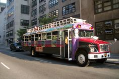 Make Music NY 2012 World Tour Colombian Chivas Bus