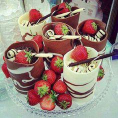 Chocolade glazen