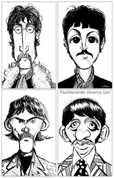 the beatles paul alexander Beatles Band, Beatles Love, Les Beatles, John Lenon, Batman Drawing, Imagine John Lennon, Good Day Sunshine, Funny Caricatures, Face Sketch