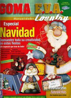 Artesanato com amor...by Lu Guimarães: Goma eva country especial navidad n 8