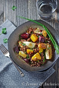 Red Rice with Roasted Squash, Fennel & Beets
