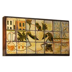 Ceramic Tiled Plaque by Henry Varnum Poor, American 1948   From a unique collection of antique and modern decorative art at http://www.1stdibs.com/furniture/wall-decorations/decorative-art/