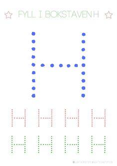 Lär dig skriva hela alfabetet med dessa färgglada bokstäver i färgerna röd, grön och blå – Lektionstips Swedish Language, Tracing Letters, Line Chart, Preschool, Teaching, Toddlers, Tips, Inspiration, Alphabet