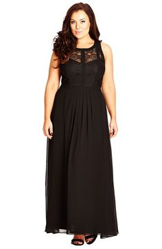 Free shipping and returns on City Chic Paneled Lace Bodice Gown (Plus Size) at Nordstrom.com. A dream of a gown features a sleeveless…