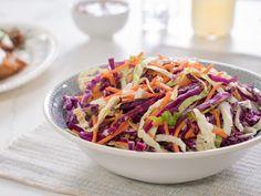 Trisha Yearwood: Rainbow Coleslaw Recipe from Food Network Food Network Recipes, Cooking Recipes, Healthy Recipes, Veggie Recipes, Easy Recipes, Cookout Food, Picnic Foods, Vegetable Salad, Vegetable Side Dishes