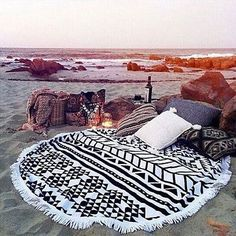 Round-Tapestry-Wall-Hanging-Beach-Throw-Towel-Mat-Boho-Decor-Swimming-Sunbath $21.99