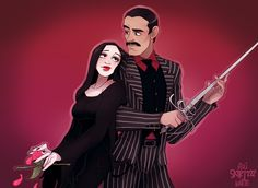 Cara Mia by Skirtzzz on DeviantArt Gomez And Morticia, Morticia Addams, Addams Family Members, Tim Burton Characters, Fictional Characters, Cute Anime Coupes, Adams Family, Female Knight, Writing Art