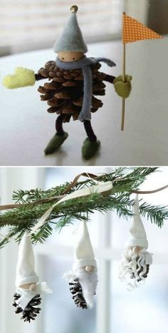 Skier in bread apple decoration of fir or table. Skier in bread apple decoration of fir or table. Noel Christmas, All Things Christmas, Christmas Ornaments, Pinecone Ornaments, Christmas Projects, Holiday Crafts, Holiday Decor, Apple Decorations, Christmas Decorations