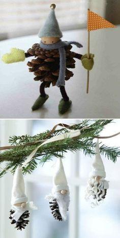 Noël – Déco pommes de pin | Le blog de Tout A Créer