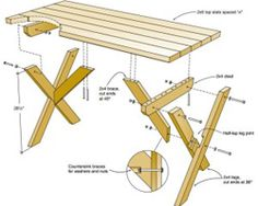 Redwood Picnic Table