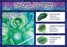 Angel Power: Raphael! Spiritual Images, Spiritual Messages, Angel Prayers, Angel Guidance, Archangel Raphael, Healing Stones, Healing Crystals, Stones And Crystals, Gem Stones