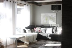 Livingroom inthe winterday light