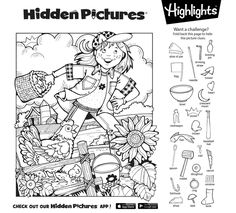 Adult Coloring, Coloring Books, Coloring Pages, Find The Difference Pictures, Hidden Pictures Printables, Highlights Hidden Pictures, Hidden Picture Puzzles, Magic English, Easter Worksheets