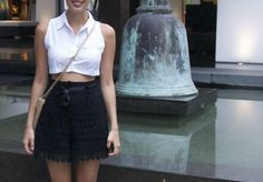 a pair and a spare . diy fashion: DIY Cacharel Inspired Collared Midriff Top