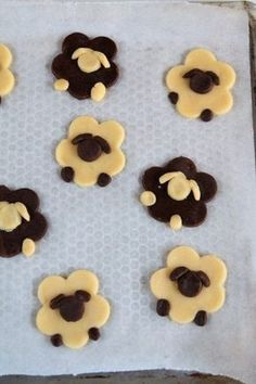 Easter sheep: Easter recipe Recipes from Non …- Pecorelle pasquali: rice… Bakery Recipes, Donut Recipes, Cake Cookies, Cupcake Cakes, Kawaii Cooking, Desserts With Biscuits, Homemade Birthday Cakes, Pitaya, Cookie Designs