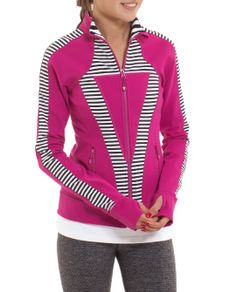 Stretch before practice in the sweat–wicking Perfect Your Practice Jacket that has four-way stretch to move with you.