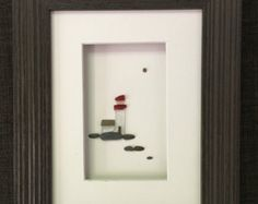 Sea glass and pebble art by sharon nowlan by PebbleArt on Etsy