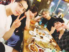 BTS's Jungkook met up with line' friends Cha Eun Woo, Mingyu, and Yugyeom once again.On July Jungkook shared the b… Bts Jungkook, Taehyung, Namjoon, Youngjae, Got7 Yugyeom, Jung Kook, Jinyoung, Suho, Kpop Wallpaper