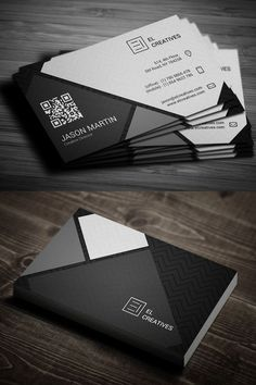 Dark Creative Business Card #businesscards #psdtemplate #printready…