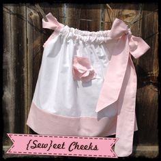 Wedding Bliss...sweet and simple country wedding flower girl dress...accents and flowers can be done in any color...$30...jewels can be sewn to the center of each flower for an additional $7... www.facebook.com/seweetcheeks