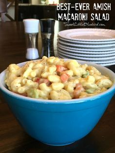 Sweet Little Bluebird: Best-Ever Amish Macaroni Salad