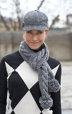 Free Pattern: Simple Cable Scarf by Patons