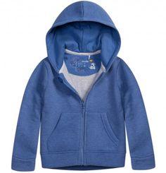 Melanżowa, rozpinana bluza z kapturem dla niemowlaka N52C020_1