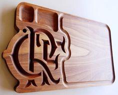 Tabua de churrasco de madeira do Flamengo lindo escudo