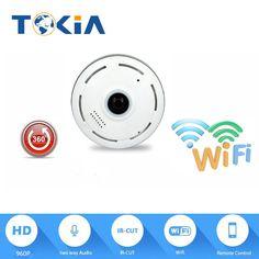 HD Wifi fisheye lens 960p Wireless ip camera audio 360 Degree panoramic view night vision  wireless wifi camera