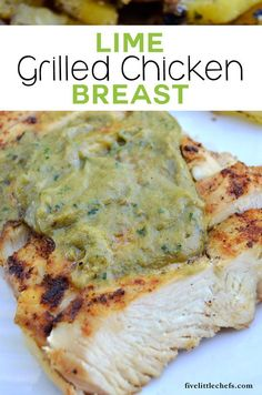 I'm always on the lookout for quick dinner recipes. Chicken recipes are even better! This grilled chicken breast recipe marinates while the grill is heating up. Add some avocado butter at the end or use it in fajitas!