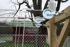 Homemade Outdoor Clothesline With Tons of Pictures & Directions