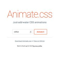 Amazing collection of CSS Animations http://daneden.github.io/animate.css/