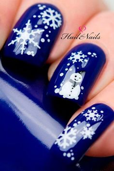As symbols of the winter season, snowflake nail art are wonderful now and can instantly make a regular manicure look like a work of art. Take a look at these Cool Snowflake Nail Art Designs for inspiration. Snowflake Nail Design, Snowflake Nails, Christmas Nail Art Designs, Snowflake Pattern, Snowflakes, Xmas Nails, Holiday Nails, Christmas Nails, Christmas Ideas