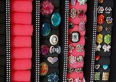 New Diy Jewelry Holder Wall Dollar Stores Ideas Neue DIY Schmuck Halter Wall Dollar Stores Ide Diy Storage, Jewelry Organization, Kitchen Storage, Closet Organization, Dollar Store Crafts, Dollar Stores, Jewellery Storage, Jewellery Display, Gold Jewellery