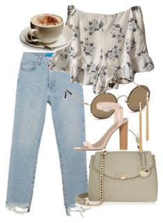 """Untitled #4685"" by olivia-mr ❤ liked on Polyvore featuring M.i.h Jeans, Balenciaga, Versace, Public Desire and Jules Smith"