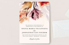 """""""Grecian Floral"""" - Floral & Botanical Wedding Invitation Petite Cards in Tulip by Olivia Kanaley."""