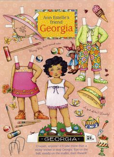 Mary Engelbreit Paper Doll  - Ann Estelle's Friend Georgia